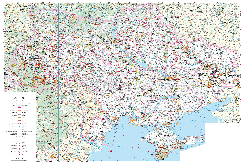 Карта Украины подробная