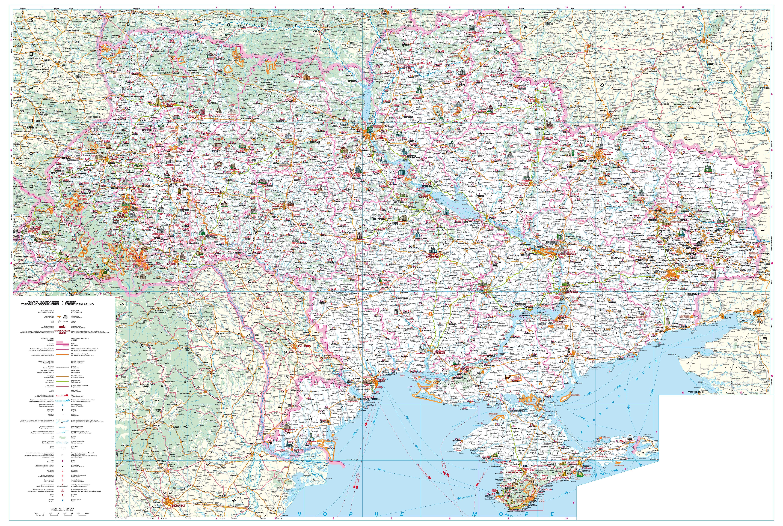 Автомобильная карта Украины
